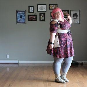 Pink Clove Paisley cold shoulder dress